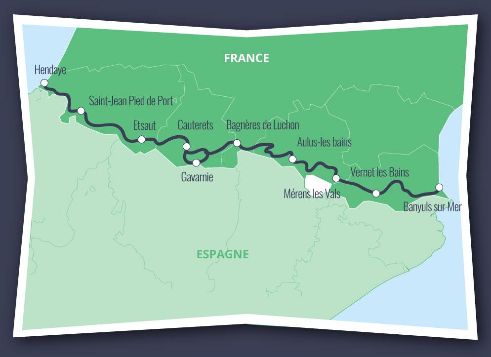 Hendaye France Map.Gr10 Freedom The Gr10 You Choose Gr10 Liberte